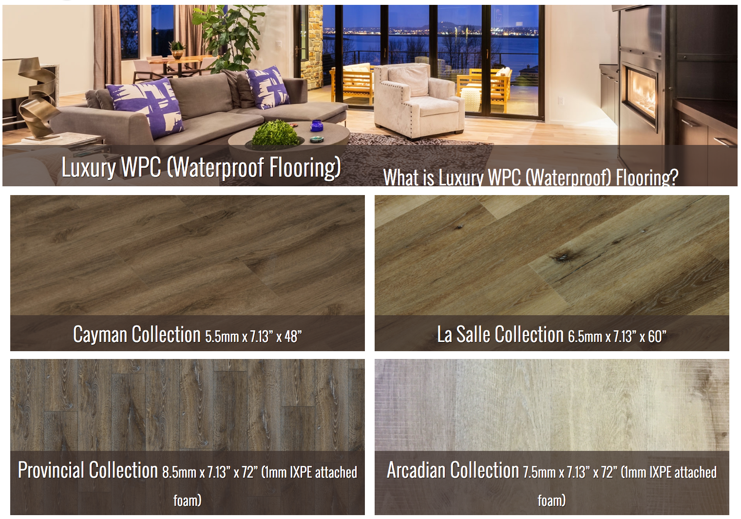 New WPC Products - Water Proof Flooring